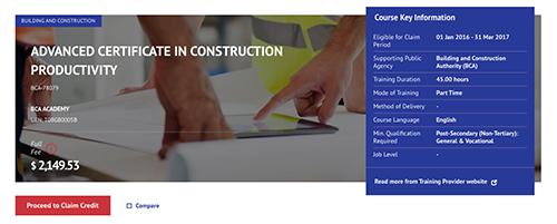 Construction Productivity SkillsFuture